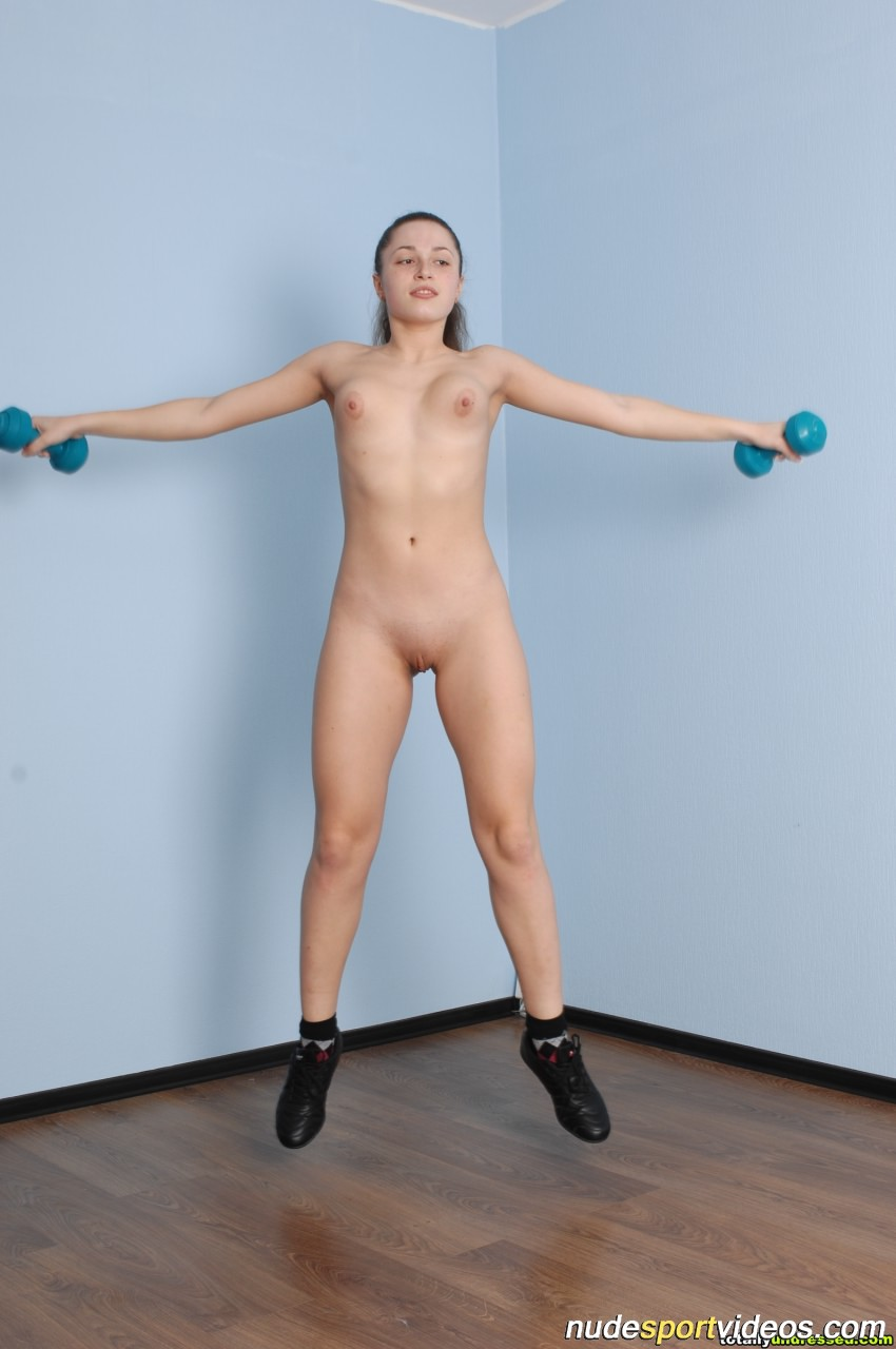 Erotic rope and dumbbells